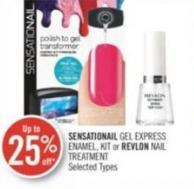 Sensationail Gel Express Enamel - Kit or Revlon Nail Treatment
