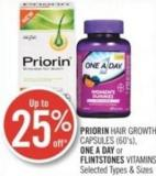Priorin Hair Growth Capsules (60's) - One A Day or Flintstones Vitamins