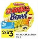 Mr. Noodles Bowl - 2 Air Miles Bonus Miles