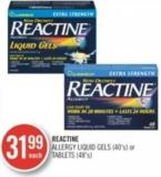 Reactine Allergy Liquid Gels (40's) or Tablets