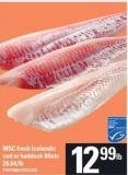 Msc Fresh Icelandic Cod Or Haddock Fillets