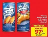 Pillsburry Wiener Wraps or Crescents 200 G-235 g