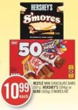 Nestlé Mini Chocolate Bars (50's) - Hershey's (594g) or Aero (569g) S'mores Kit