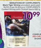 Sensations By Compliments Black Tiger Shrimp