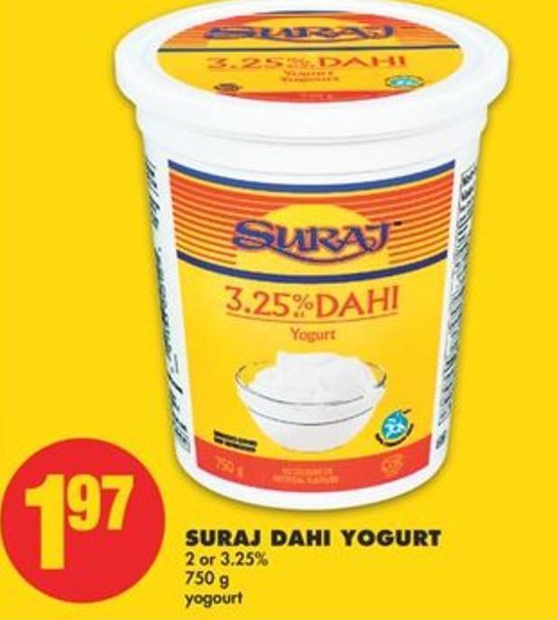 Suraj Dahi Yogurt - 2 or 3.25% 750 g