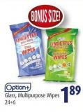 Option+ Glass - Multipurpose Wipes 24+6