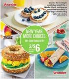 Country Harvest Bagels - 540 G Or Wonder 10 Inch Tortilla Wraps - 640 G Or Wonder English Muffins - 450 G