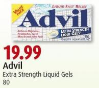 Advil  Extra Strength Liquid Gels  80