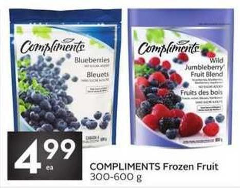 Compliments Frozen Fruit 300-600 g