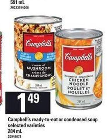 Campbell's Ready-to-eat Or Condensed Soup - 284 mL