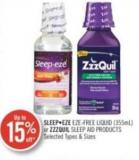 Sleep Eze Eze Free Liquid (355ml) or Zzzquil Sleep Aid Products