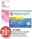 Life Brand Aller-relief or Allergy Formula Products