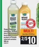 Happy Planet Smoothies - Go Nuts Dairy Free Or Protein Beverages  - 900 mL
