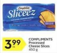 Compliments Processed Cheese Slices 450 g