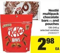 Nestlé Multipack Chocolate Bars - 4's And Pouches - 136-246 g