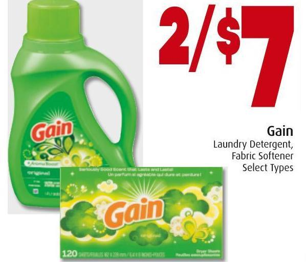 Gain  Laundry Detergent - Fabric Softener
