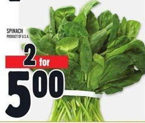 Spinach Product of U.S.A.