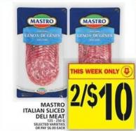 Mastro Italian Sliced Deli Meat