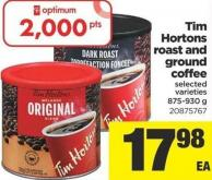 Tim Hortons Roast And Ground Coffee - 875-930 g
