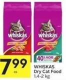 Whiskas Dry Cat Food 1.4 - 2 Kg