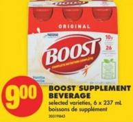 Boost Supplement Beverage