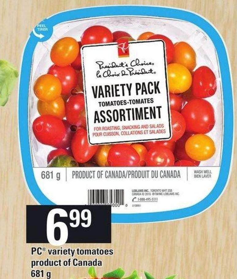 PC Variety Tomatoes 681 G