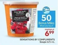 Sensations By Compliments Soups 625 mL - 50 Air Miles Bonus Miles