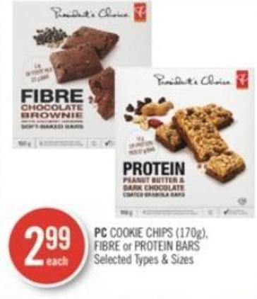 PC Cookie Chips (170g) - Fibre or Protein Bars