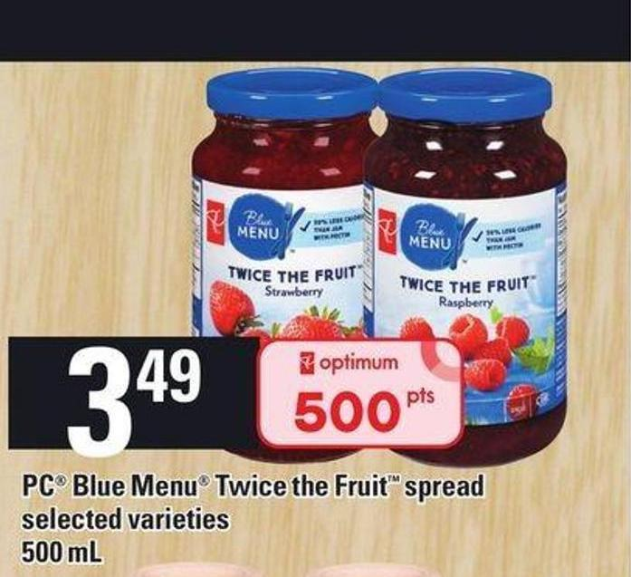 PC Blue Menu Twice The Fruit Spread - 500 Ml