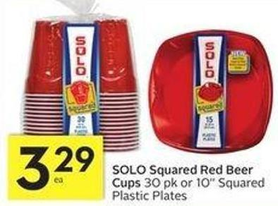 Solo Squared Red Beer Cups