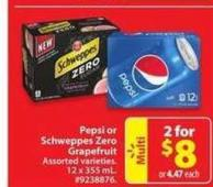 Pepsi or Schweppes Zero Grapefruit