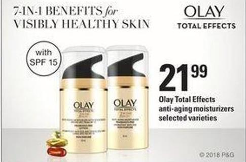 Olay Total Effects Anti-aging Moisturizers