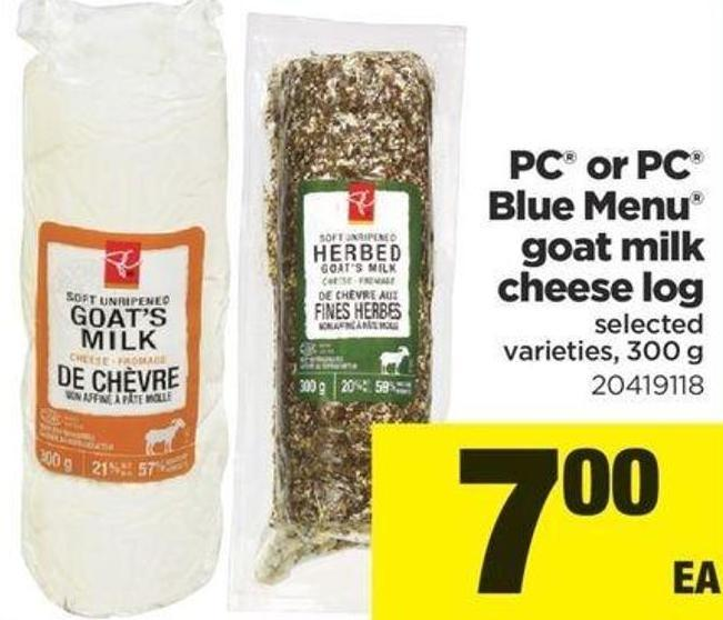 PC Or PC Blue Menu Goat Milk Cheese Log - 300 g