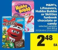 M&m's - Lifesavers - Hubba Bubba Or Skittles Funbook Chocolate Or Candy - 104-183 g