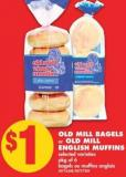 Old Mill Bagels or Old Mill English Muffins