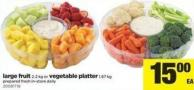Large Fruit - 2.2 Kg Or Vegetable Platter - 1.67 Kg