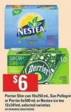 Perrier Slim Can - 10x250 Ml - San Pellegrino Or Perrier - 6x500 Ml Or Nestea Ice Tea - 12x341ml