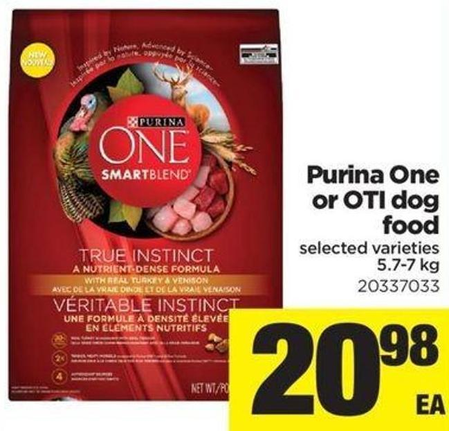 Purina One Or Oti Dog Food - 5.7-7 Kg