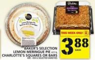 Baker's Selection Lemon Meringue Pie Or Charlotte's Squares Or Bars
