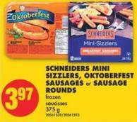 Schneiders Mini Sizzlers - Oktoberfest Sausages or Sausage Rounds - 375 g