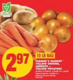 Farmer's Market Yellow Onions - Carrots or Yellow Potatoes - 10 Lb Bag