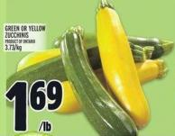 Green Or Yellow Zucchinis