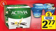 Activia Yogourt Or Oikos Greek