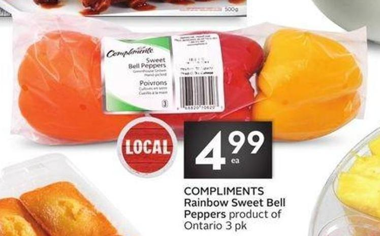 Compliments Rainbow Sweet Bell Peppers