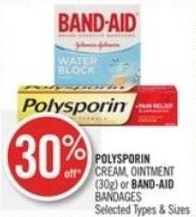 Polysporin  Cream - Ointment (30g) or Band-aid Bandages