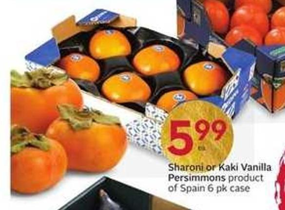 Sharoni or Kaki Vanilla Persimmons