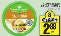 Summer Fresh Dips Or Hummus