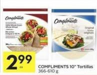 Compliments 10in Tortillas