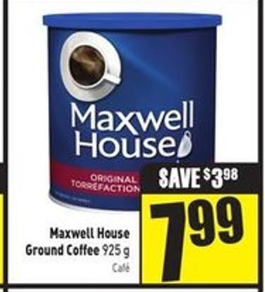 Maxwell House Ground Coffee 925 g