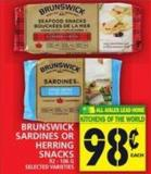 Brunswick Sardines Or Herring Snacks